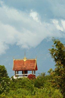 Eine Trommel in Viengsamay, Laos