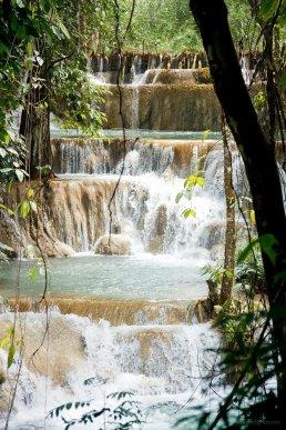 Tat Sae Wasserfalle nahe Luang Prabang, Laos