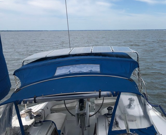 Catalina Yachts Solar Panel Array DIY