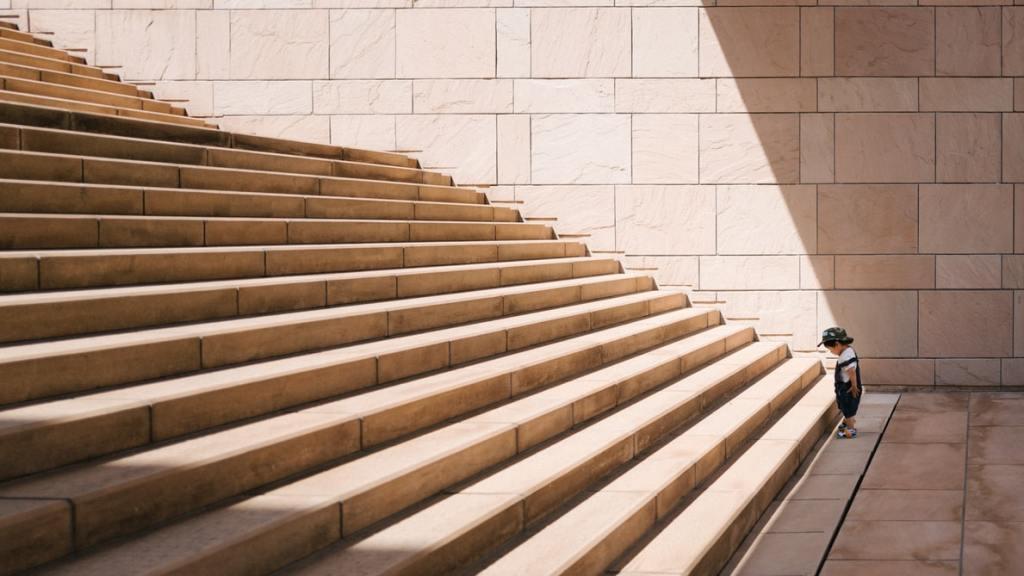 Die Treppe des Helden