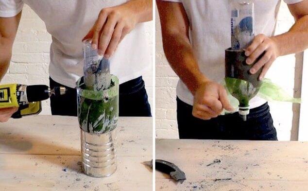 бутылки и бетон