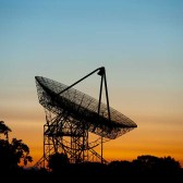 Sunrise at the Stanford Dish