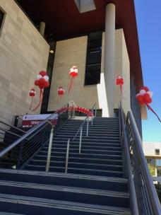 Stairway entrance to the Li Ka Shing Center