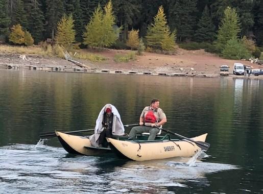 Couple survives capsized canoe fish lake