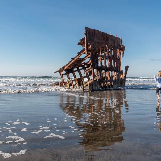 Peter Iredale wreck at Fort Stevens State Park