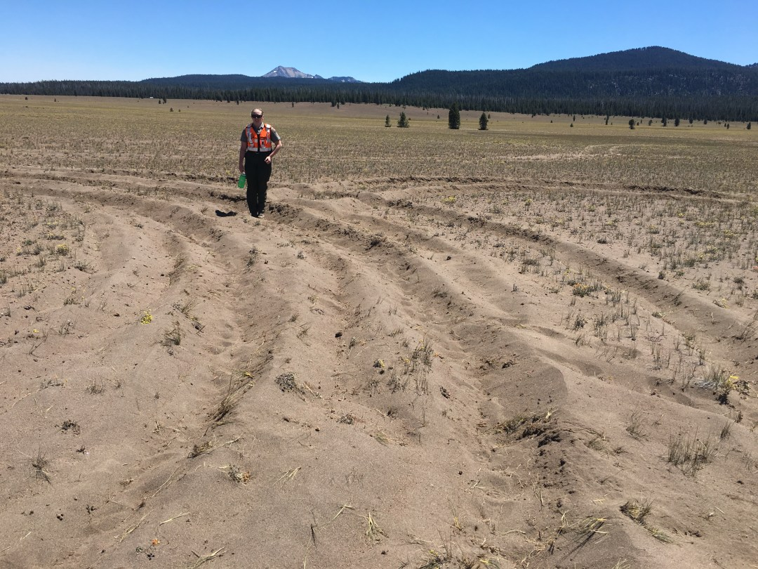 Park Staff Assess Resource Damage in Pumice Desert 2