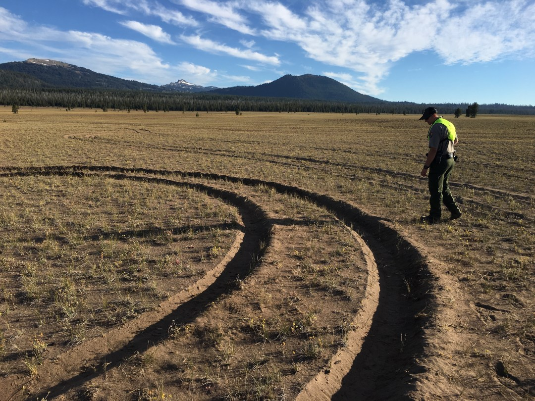Park Staff Assess Resource Damage in Pumice Desert