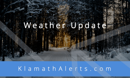 Weather Update: 1-2 inches of slushy snow now forecast for Klamath Falls. Advisory issued for higher elevations