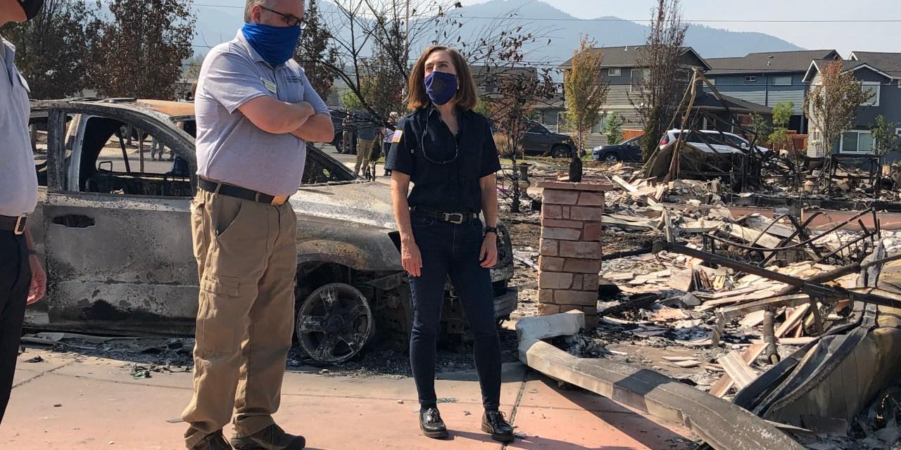 Governor Kate Brown Visits Southern Oregon, Sees Devastation Caused by Almeda Fire