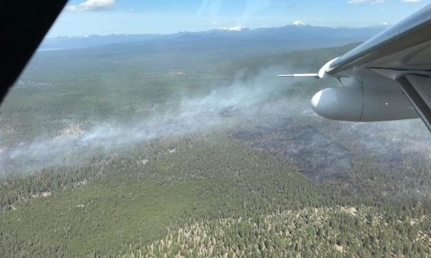 Meadow Fire Update: Meadow Fire Near Chiloquin fully lined overnight