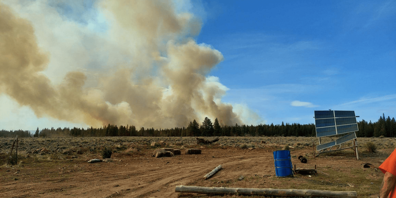 Sycan Fire now estimated at 650 acres (Photos)