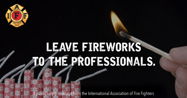 SPARK WITH SAFETY! City Urges Fireworks Safety