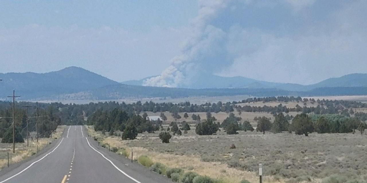 New Fire – Bootleg Fire burning on Chiloquin Ranger District