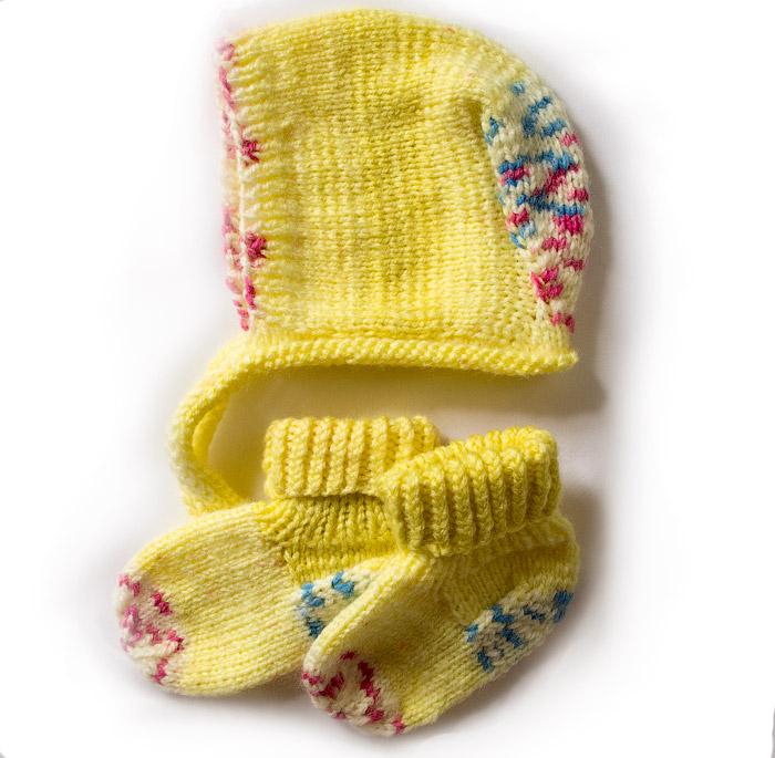 качественная вязаная шапочка для новорожденных купить