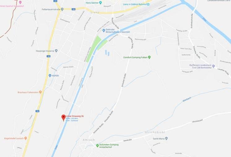 Anfahrtsweg Klang-erleben Lienz