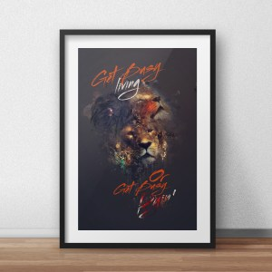 Get-Busy-Living-Poster-Frame
