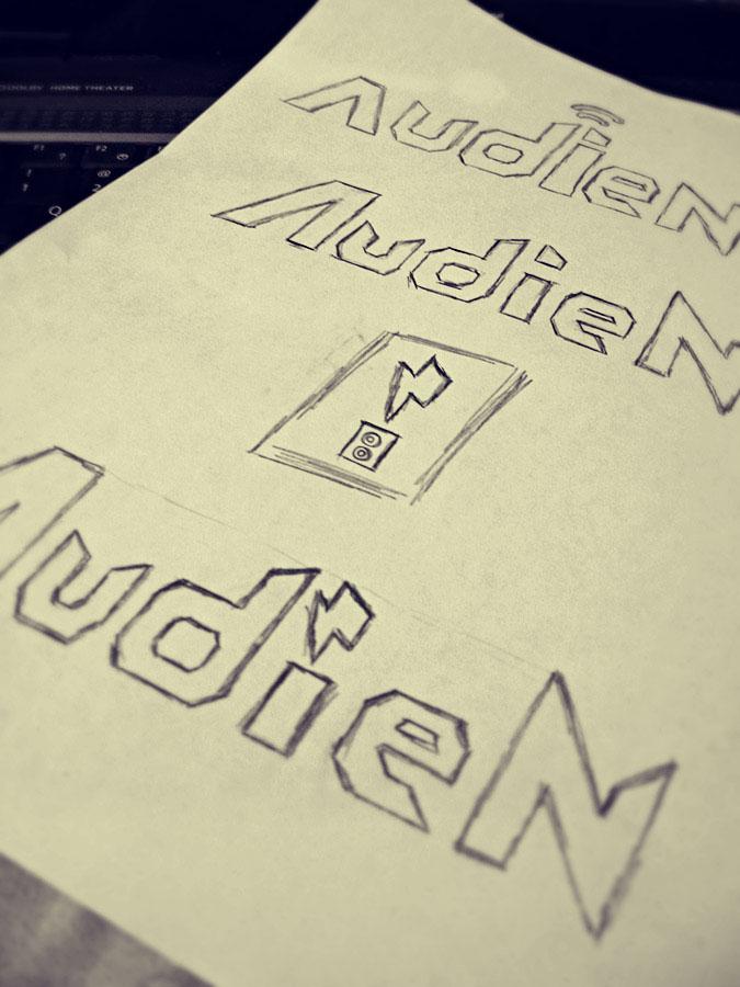 Audien Logo Sketch