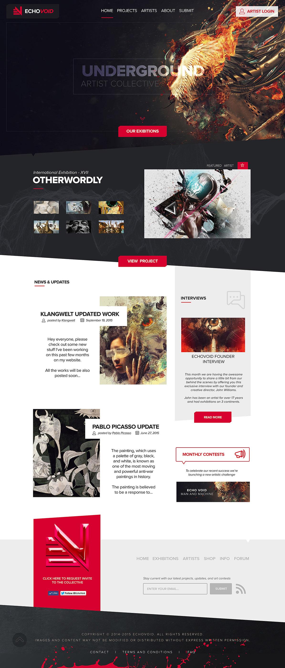 EchoVoid Artist Community Homepage