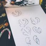 Vevarica logo sketches