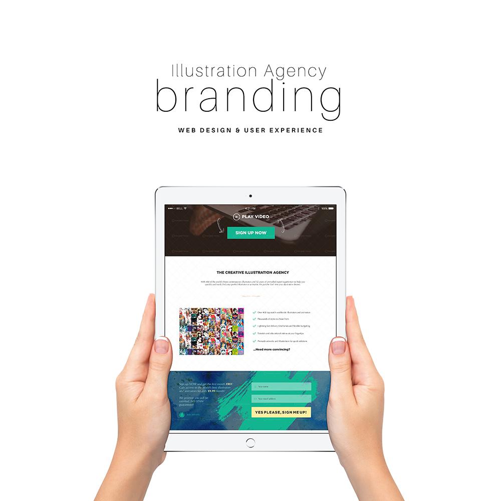 Creative Illustration Agency Branding