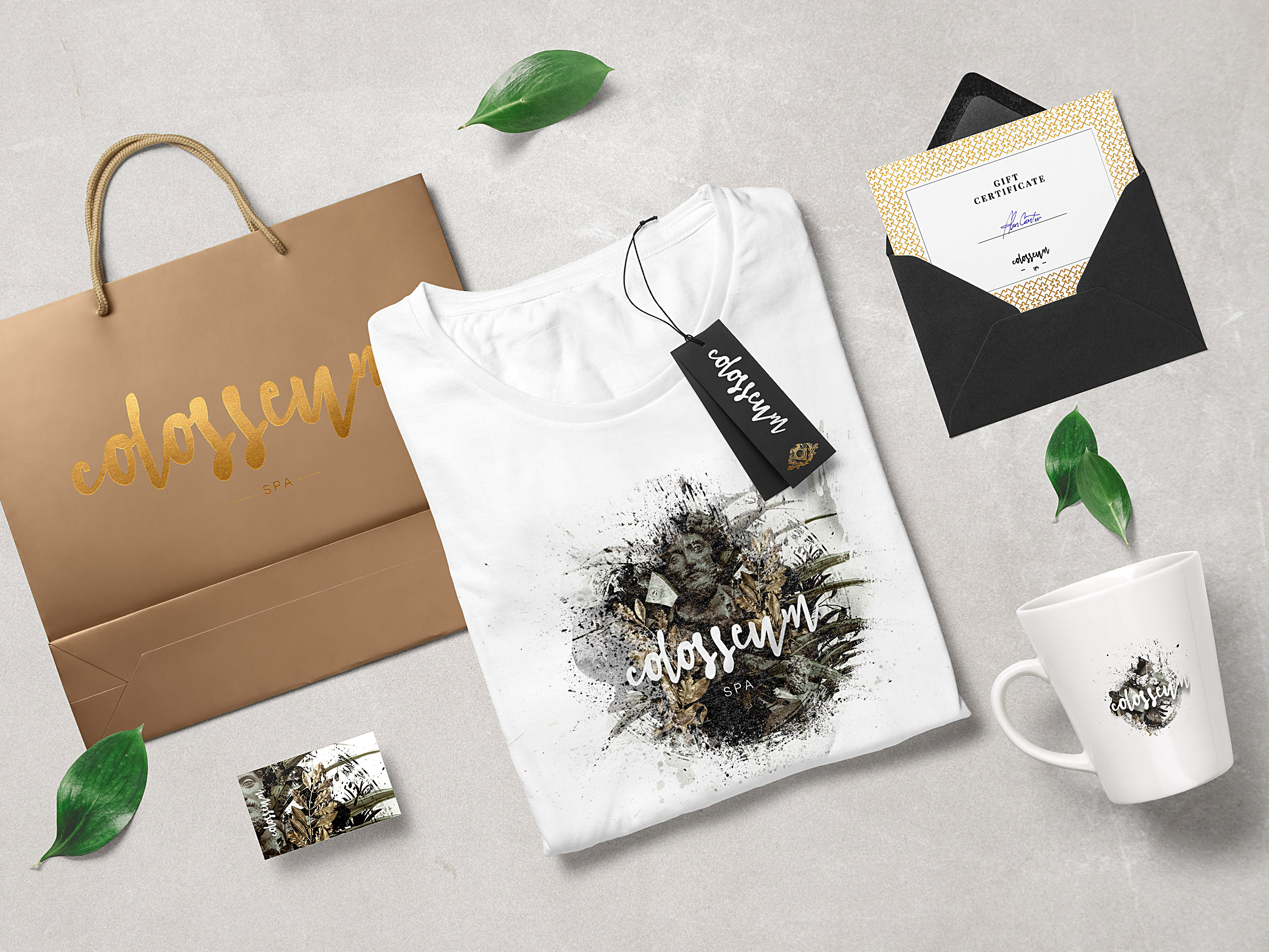 colosseum luxury branding elements