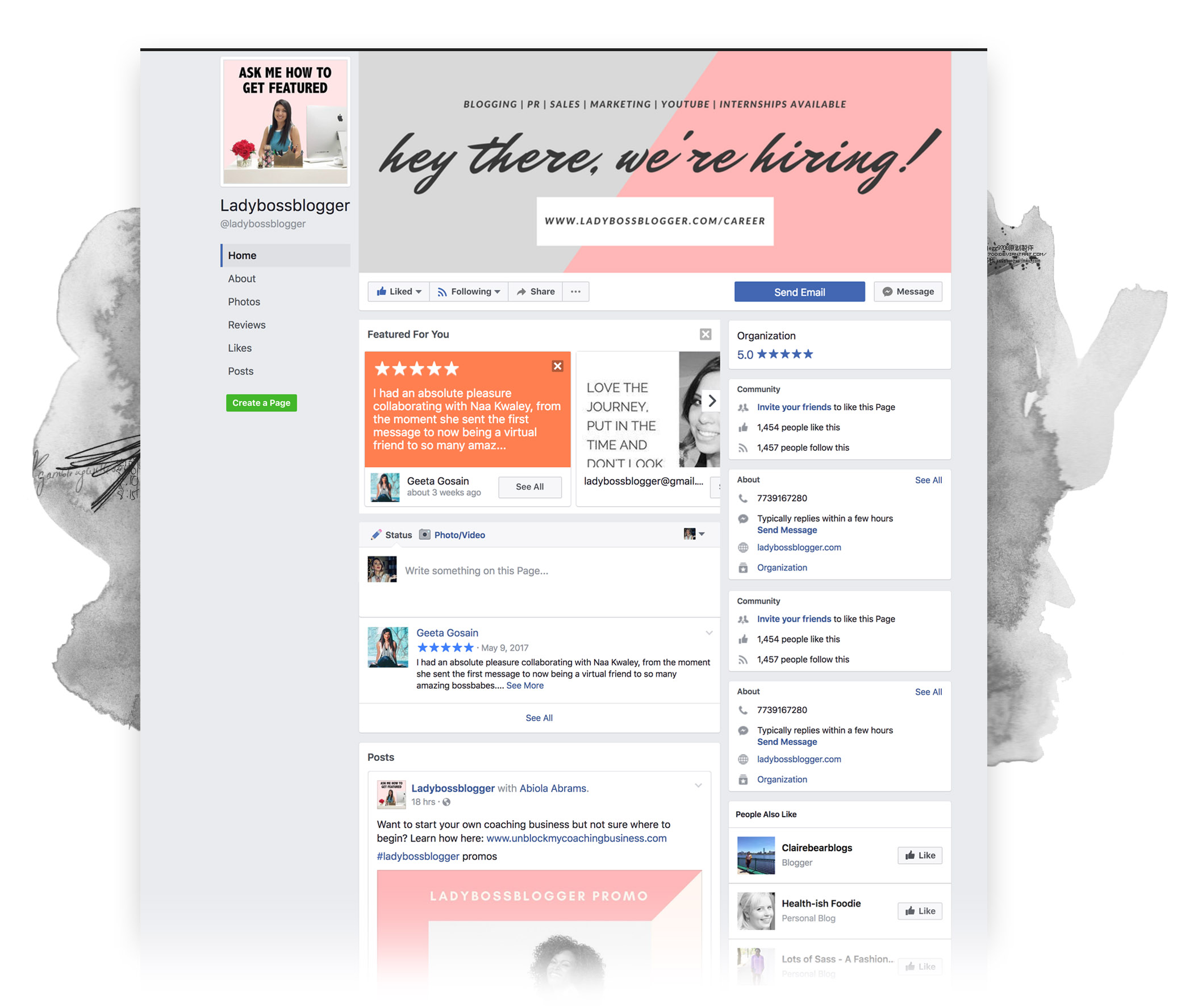 Lady Boss Blogger Facebook Page