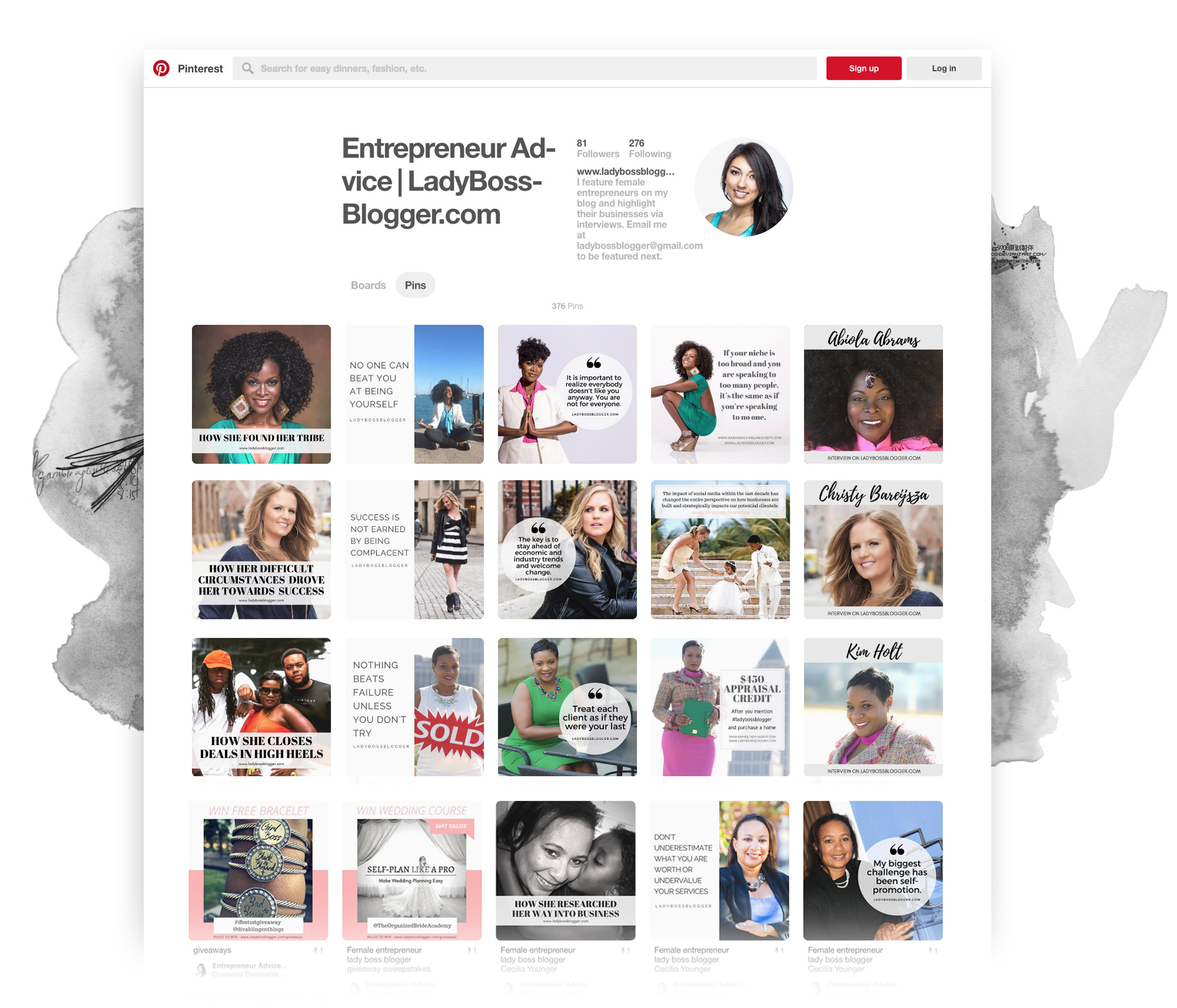 LadyBossBlogger Pinterest page strategy