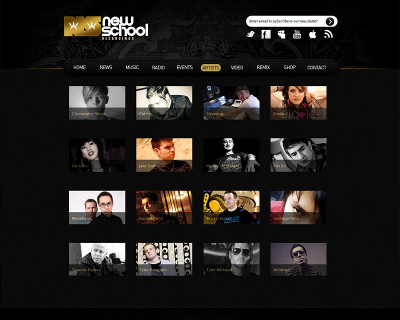 New School Recordings 2011 Wordpress Artists Page