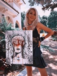"""Erase My Self"" mixed media acrylic on canvas"