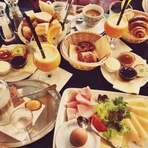 Snídaně v Café Amandine