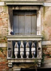 Alter kleiner Balkon