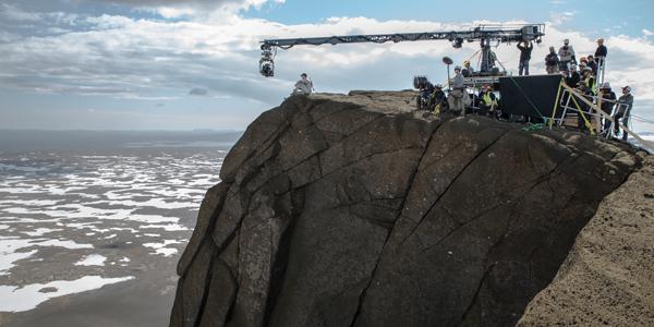 Frá tökum á Oblivion, við Jarlhettur sumarið 2012.