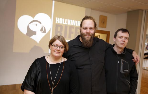 Hluti stjórnar Hollvina RIFF: Rannveig Ásgeirsdóttir, Ólafur Darri Ólafsson og Sveinn Kjartansson.