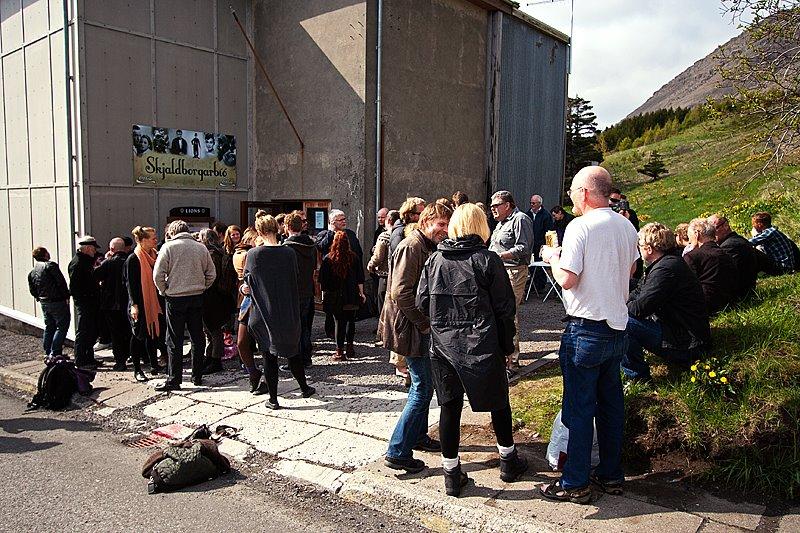 Stemmning á Skjaldborg.