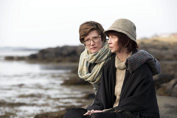 Dóttir og móðir: Yrsa Roca Fannberg og Salóme Fannberg.