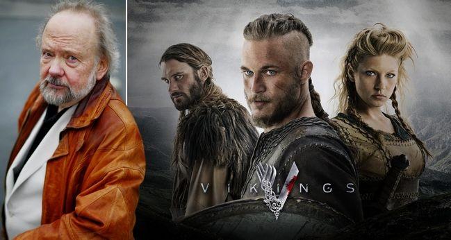 Ólafur Gunnarsson meðal handritshöfunda Vikings. (Samsett mynd Vísir)