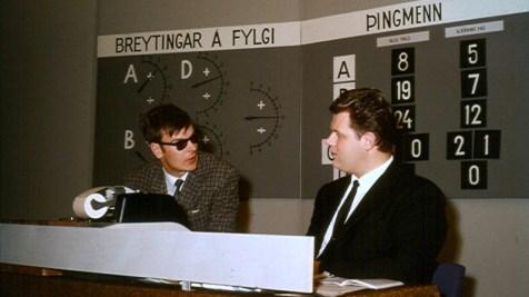 Kosningar 1967: Jón Hermannsson og Lúðvík Albertsson skrifstofustjóri.