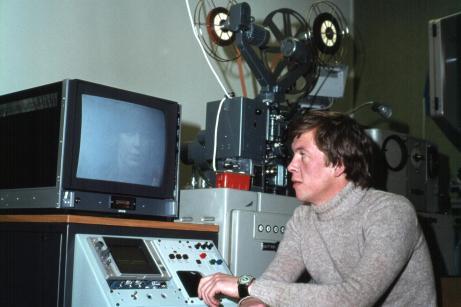 1976-1978: Þór Sigurjónsson við skannerinn.