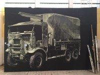 truck painted back drop