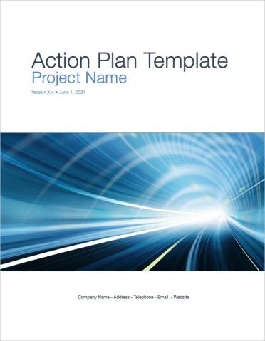 Action Plan Template  Apple iWork Pages    Templates  Forms     Action Plan Template coverpage