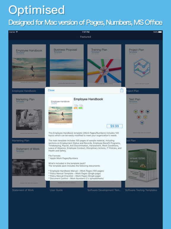 klariti-template-store-itunes-app-employee-handbook
