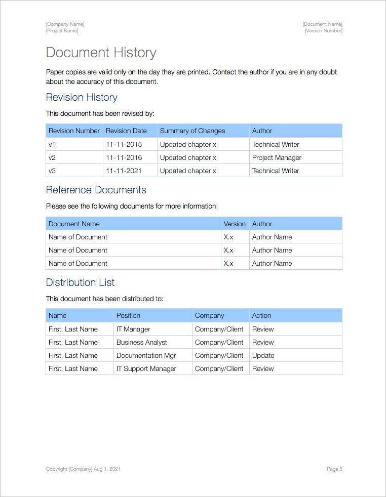 Sop Format Template standard operating procedure templates apple – Sop Format Template