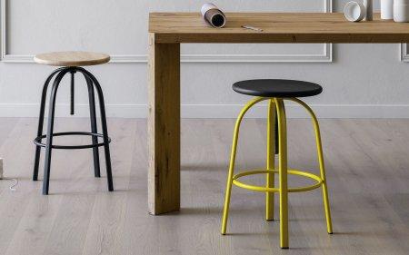 FERROVITOS coloured height adjustable stool miniforms