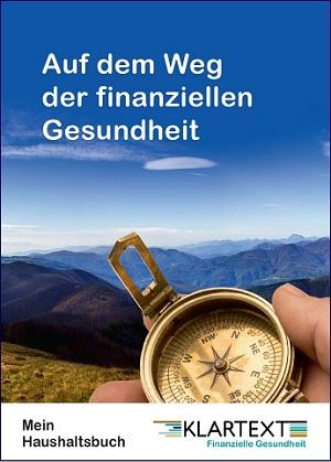 """Bild Haushaltsbuch mit Beschriftung """"Alles im Blick"""""""