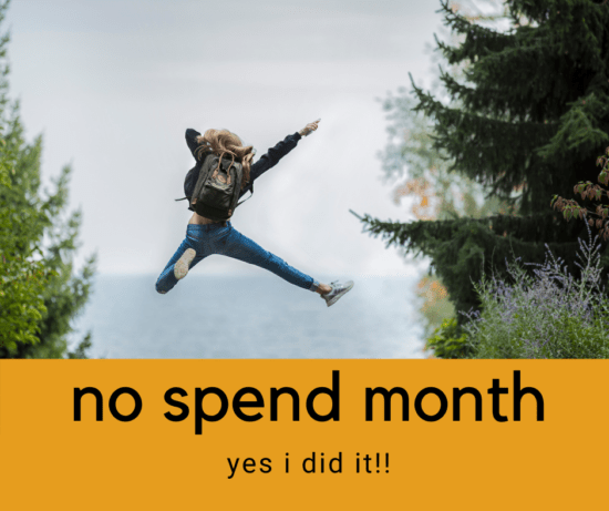 no spend month 2