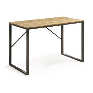 LAFORMA Lisbet skrivebord - natur/sort MDF/metal, rektangulær (120x60)