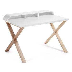 LAFORMA Success skrivebord - hvid/natur træ, rektangulær (120x79)
