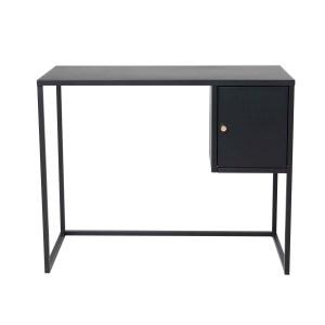 VENTURE DESIGN Bakal skrivebord, m. 1 låge - sort stål (95x45)