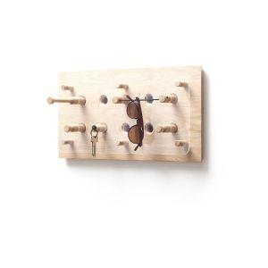 ROON & RAHN Moodboard knagerække - natur/klar egetræ/plexiglas, 50 cm