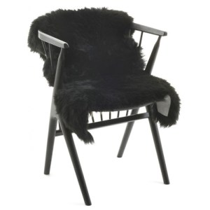 Natures Collection long wool Lammeskind - black